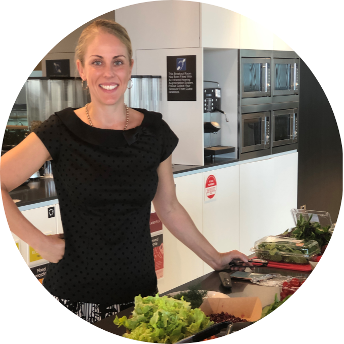 Katie King: The Balance Nutritionist corporate education with sample foods